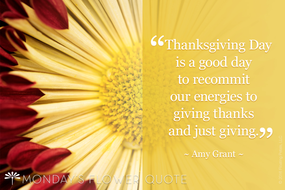 flower quote THANKSGIVING DAY IS A GOOD DAY