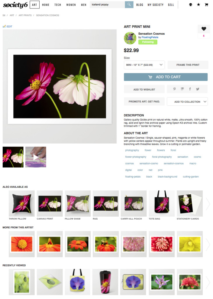 Flowers Galore and More on Society6